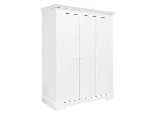 Armoire 3-portes Narbonne Blanc BOPITA