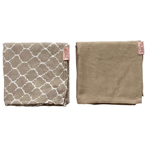 Tétra 80x80cm (2 pcs) - Once upon a dream Sand - Witlof For Kids