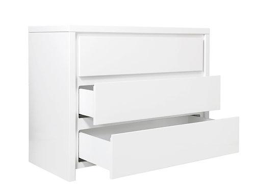 Commode avec 3 tiroirs Camille Blanc BOPITA