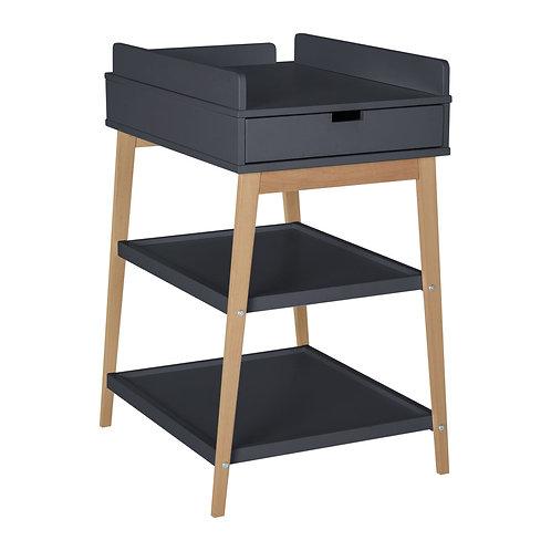 Table à langer Hip avec tiroir - Moonshadow/naturel QUAX