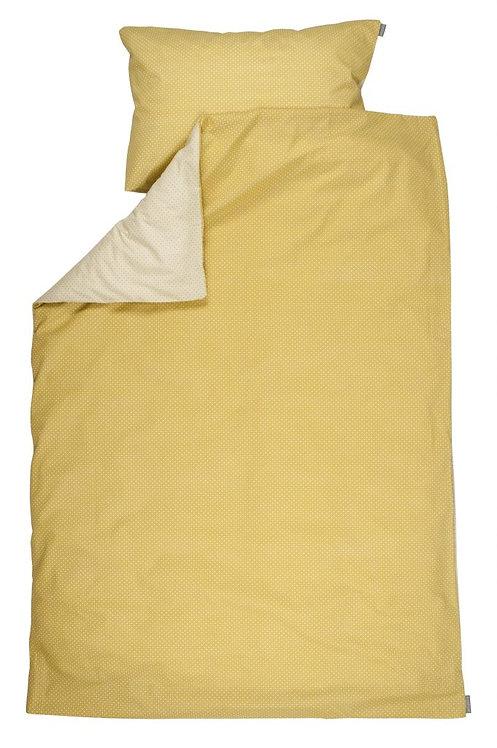 Housse de couette + taie d'oreiller lit bébé/berceau- Yellow metrics - PLUM PLUM