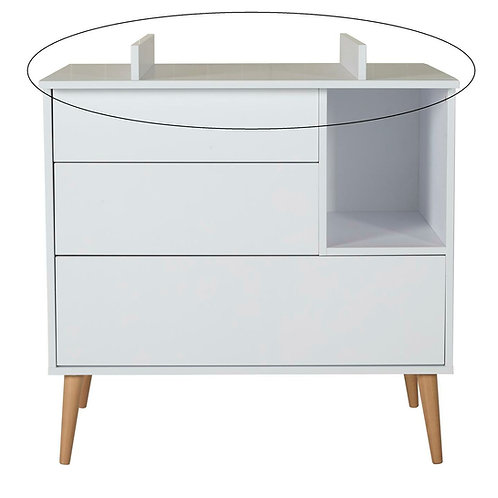 Plan à langer commode Cocoon - Ice white QUAX