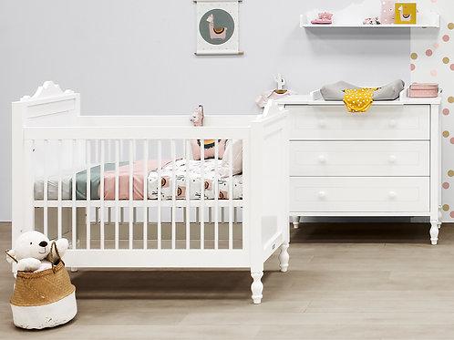 Chambre bébé 3 pièces BELLE blanc (Lit 60x120) BOPITA