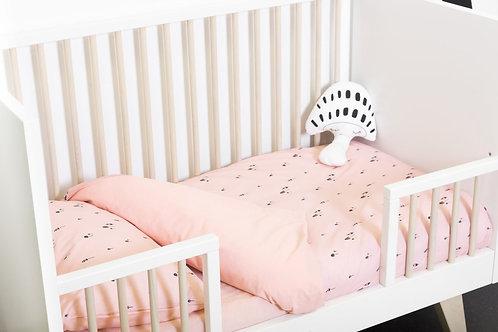 Housse de couette+taie d'oreiller lit bébé/junior berceau -Pink gnome- PLUM PLUM