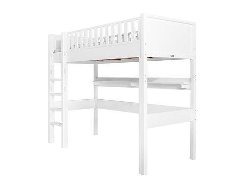Lit mezzanine XL 90x200 cm, échelle droite Nordic BOPITA