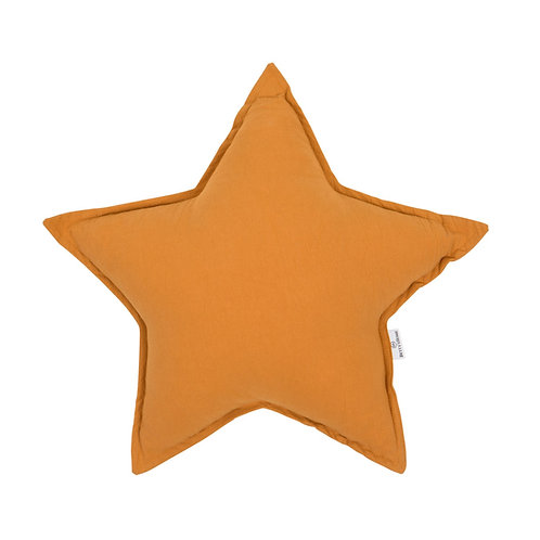 Coussin étoile coton - jaune - Betty's home