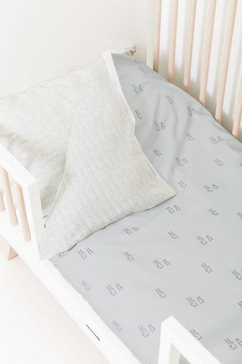 Housse de couette + taie d'oreiller lit bébé/berceau - Bunny - PLUM PLUM