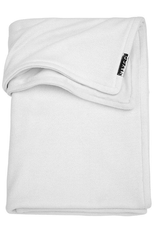 Couverture 75x100 cm - Knit basic - Blanc MEYCO
