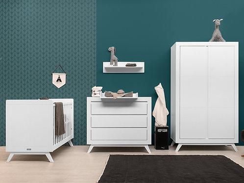Chambre bébé 3 pièces ANNE blanc (Lit 60x120) BOPITA
