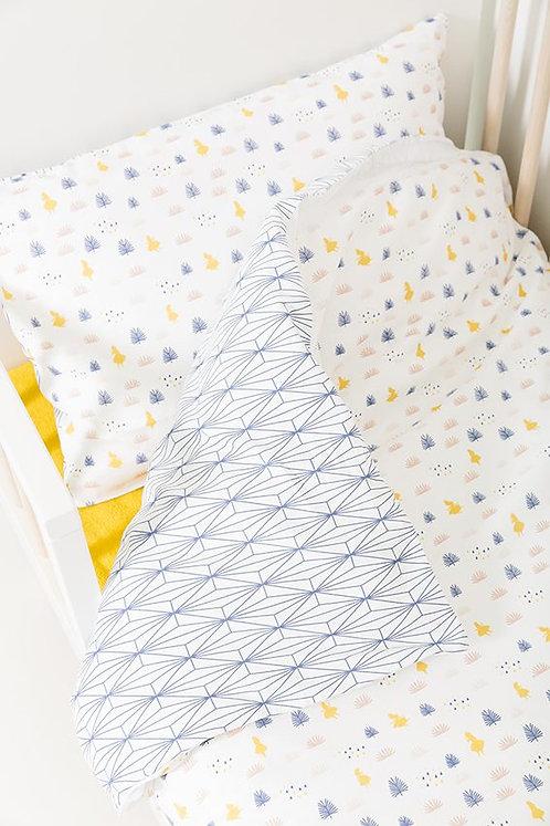 Housse de couette + taie d'oreiller lit bébé/berceau - Alice - PLUM PLUM