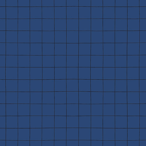 Papier peint - rouleau de 50cm x 10m - motif quadrillage bleu - Lilipinso