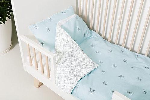 Housse de couette + taie d'oreiller lit bébé/berceau - Bambi - PLUM PLUM