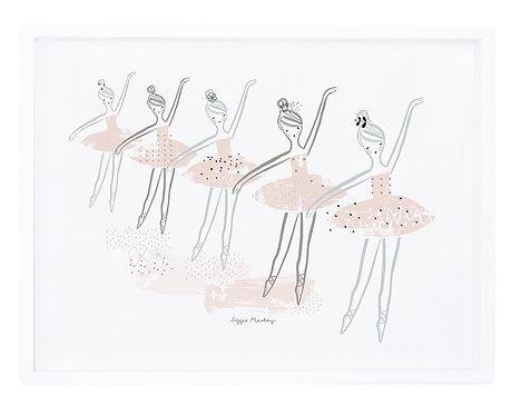 Affiche encadrée ballerines - Lilipinso