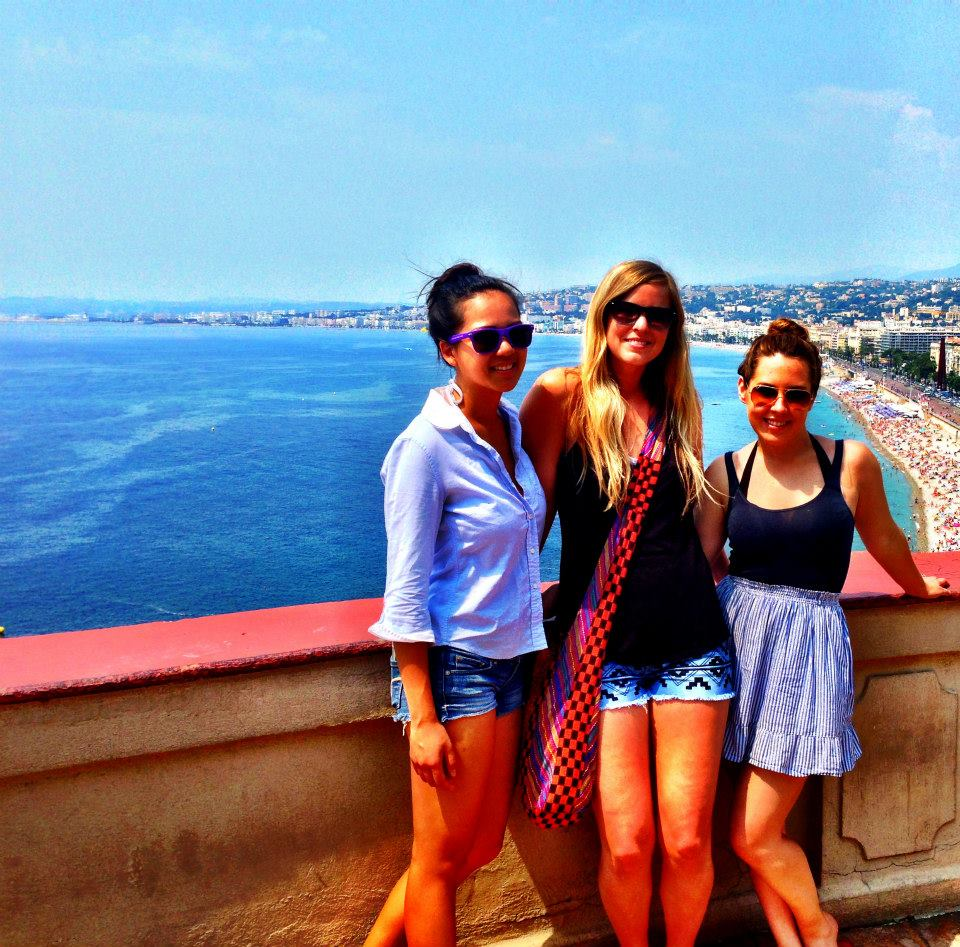 Students in Nice on Excursion