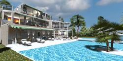 Villa and infinity pool