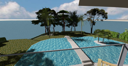 View from mid-level of the new villa