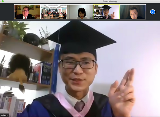 """Commencement 2020:Chinese valedictorian hails """"wonderful atmosphere in cross-cultural communication"""""""