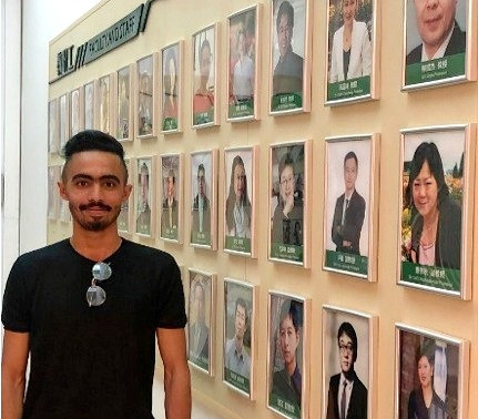 Student Q&A: Muadh Ali, an avid social media user, hopes to boost learning in his native Oman