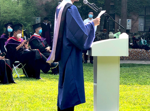 """Commencement 2020:""""Let's work together for a better world,"""" says GBJ grad Sangeet Sangroula of Nepal"""