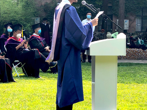"Commencement 2020:""Let's work together for a better world,"" says GBJ grad Sangeet Sangroula of Nepal"