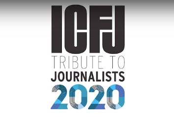 GBJ students and alumni eligible to attend ICFJ's Oct. 5 Tribute to Journalists virtually – for free