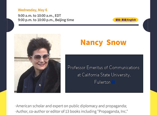 """Professor Nancy Snow, aka """"Dr. Propaganda,"""" will discuss U.S. global image during and after Trump"""