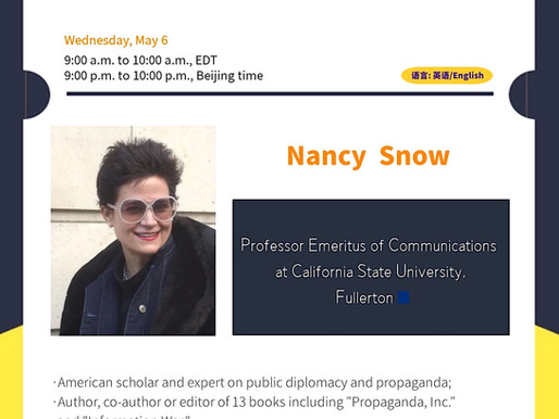 "Professor Nancy Snow, aka ""Dr. Propaganda,"" will discuss U.S. global image during and after Trump"