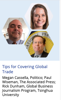 Tips for covering global trade issues