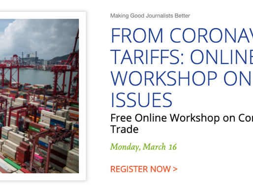 Online program on March 16 will analyze global trade, impact of coronavirus; you're invited
