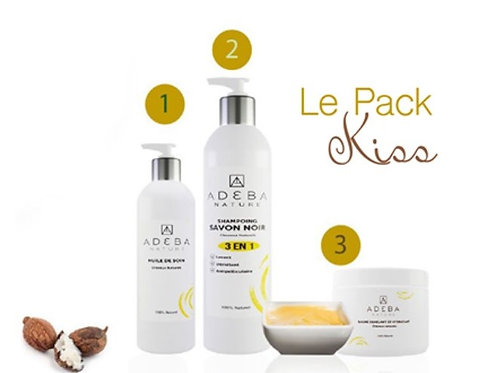 KISS combo - Oil treatment, shampoo and leave-in conditioner for coily hair