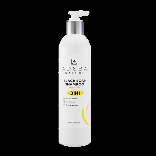 Adeba Black Soap shampoo - 3 in 1 conditioning shampoo