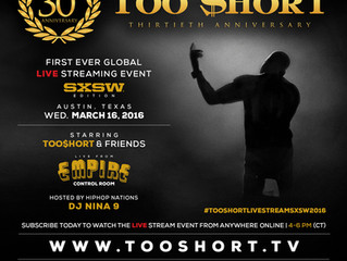 Click Link to WATCH Too $hort 30th Anniversary Live at SXSW On March 16!