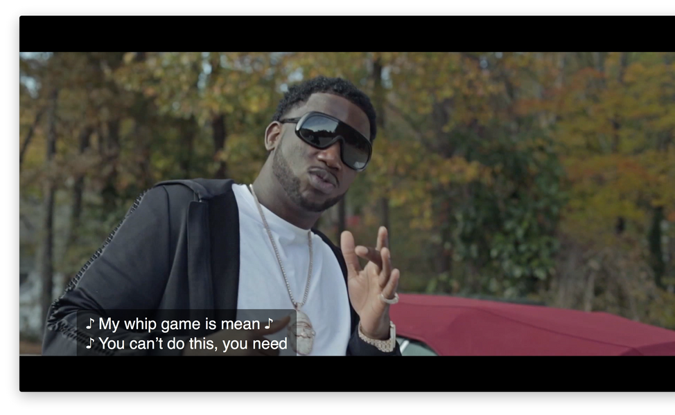 Gucci Mane Trap Closed Caption Caption .