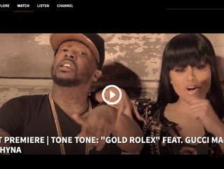 "Revolt Premiere | Tone Tone ""Gold Rolex"" Feat. Gucci Mane & Blac Chyna"