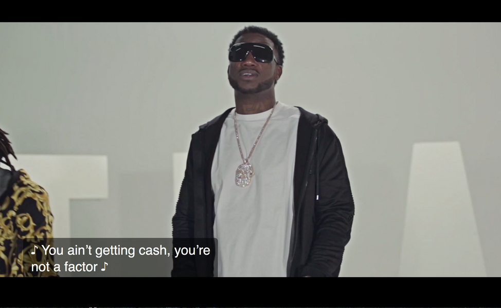Gucci Mane Closed Captioned _Trap_ Video
