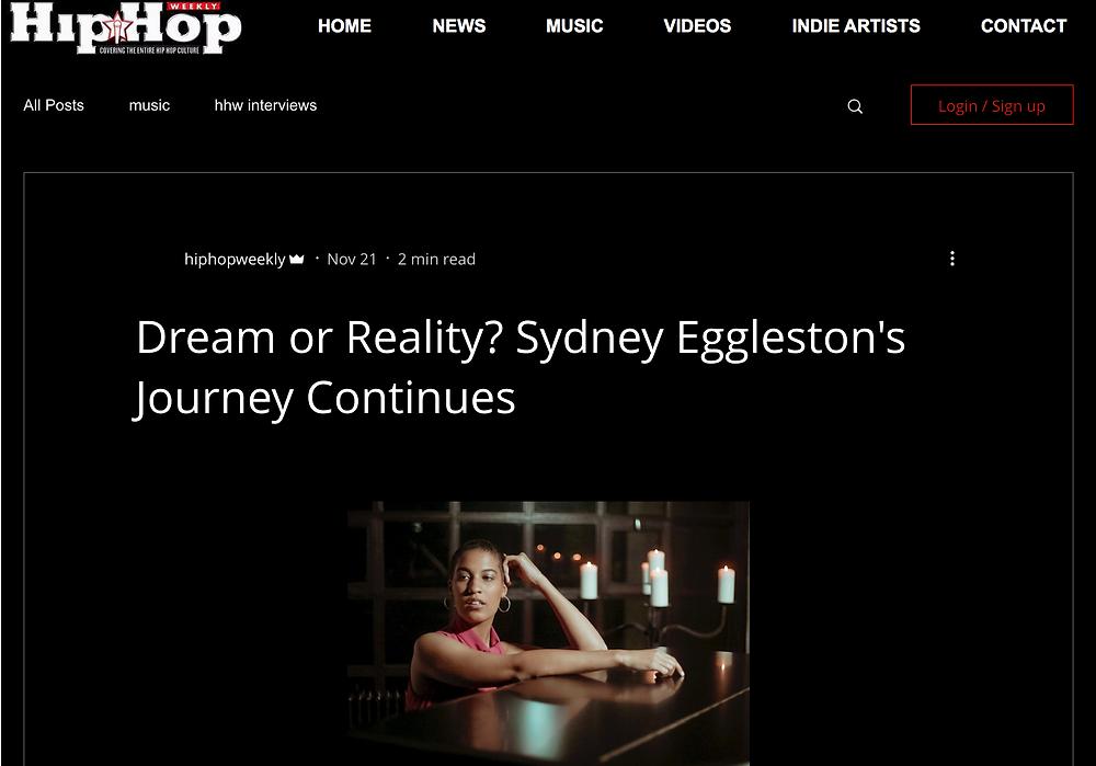 Sydney Eggleston Hip Hop Weekly