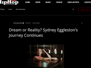 Sydney Eggleston Featured in Hip Hop weekly