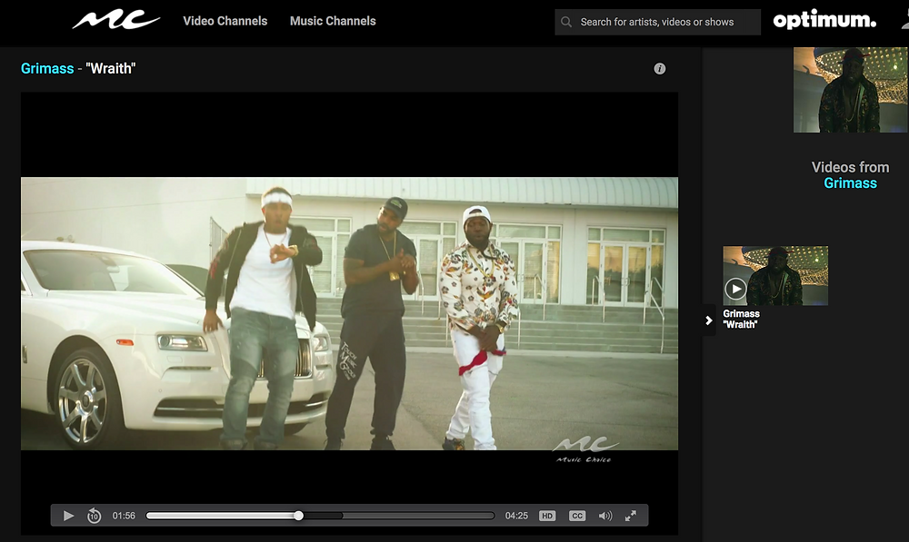 "Roc Video Promotion Grimass Ft. Karnagebeats ""Wraith"" Music Video Now On Music Choice"