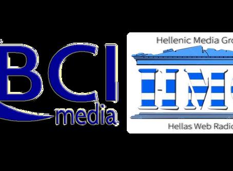 Έναρξη συνεργασίας BCI Media-Hellenic Media Group