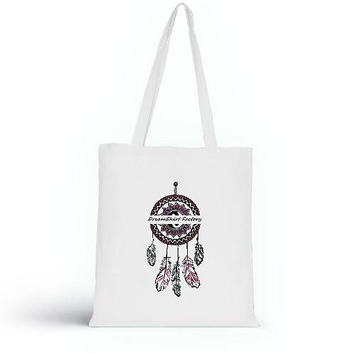 Totebag blanc en coton bio/sac en toile/Dreamcatcher colors/aperçu recto/mode éthique/dreamshirtfactory