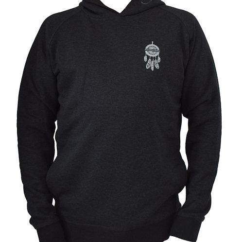 Sweatshirt gris foncé à capuche homme en coton bio aperçu recto/mode éthique/dreamshirtfactory