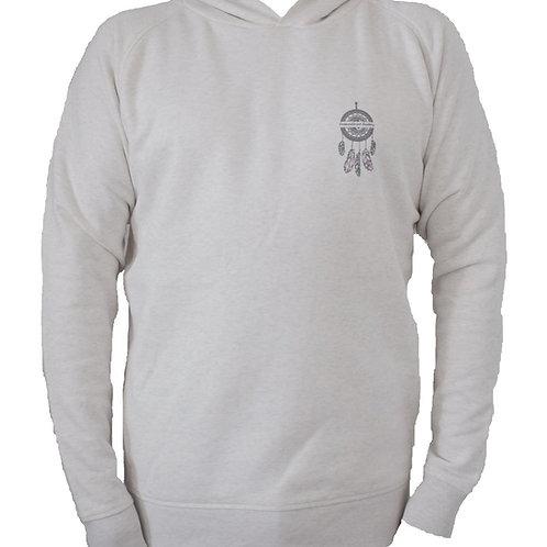 Sweatshirt blanc cassé à capuche homme en coton bio aperçu recto/mode éthique/dreamshirtfactory