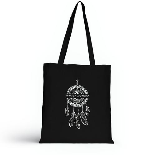 Totebag noir en coton bio/sac en toile/Dreamcatcher/aperçu recto/mode éthique/dreamshirtfactory