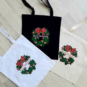 Totes bags de Noël  en Coton Bio