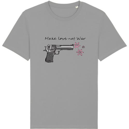 "T-Shirt imprimé Homme ""Make Love not War"" couleur Opal"