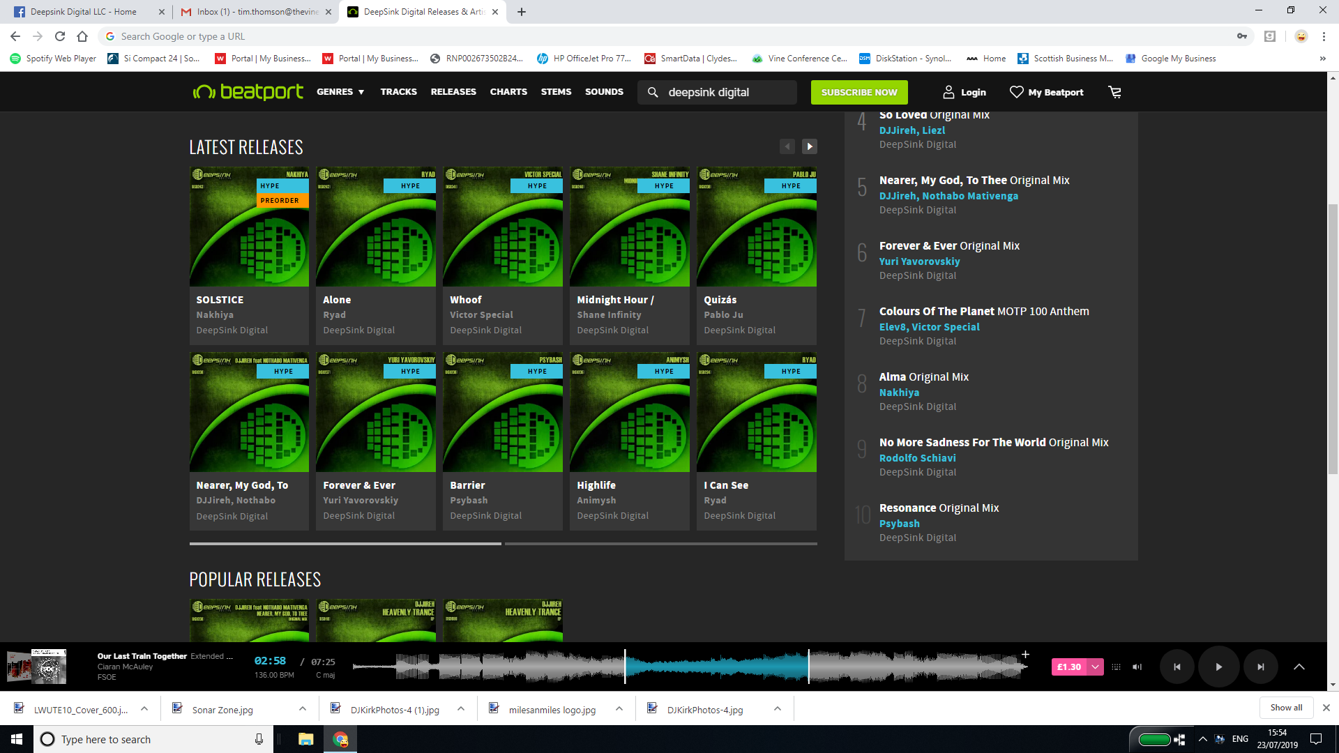 Deepsink Digital HYPE on Beatport