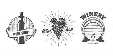 conjunto-logotipos-tienda-vinos_218570-2