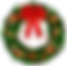 Transparent_Christmas_Wreath_with_Red_Bo