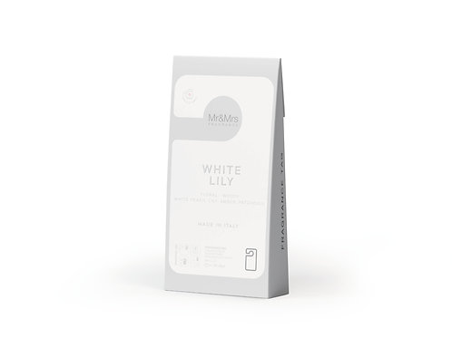 Арома-карточка для гардероба Miss Door белый WHITE LILY (Белая лилия)