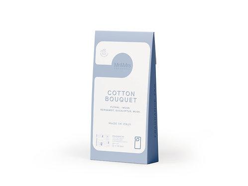 Арома-карточка для гардероба Miss Door голубая COTTON BOUGUET (Букет хлопка)